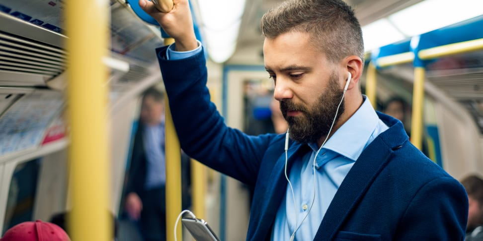 A solid pair of headphones is a must-have for long commutes.