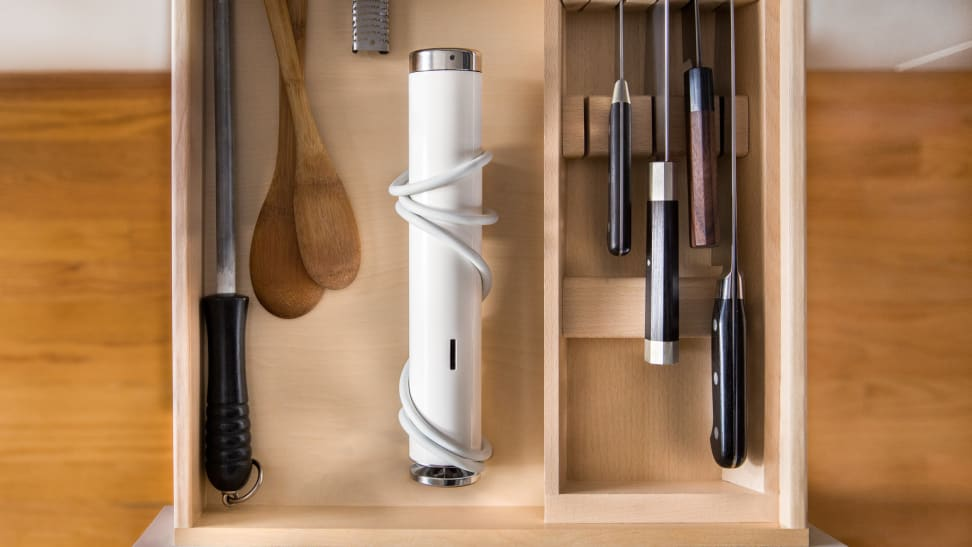 ChefSteps Joule in kitchen drawer