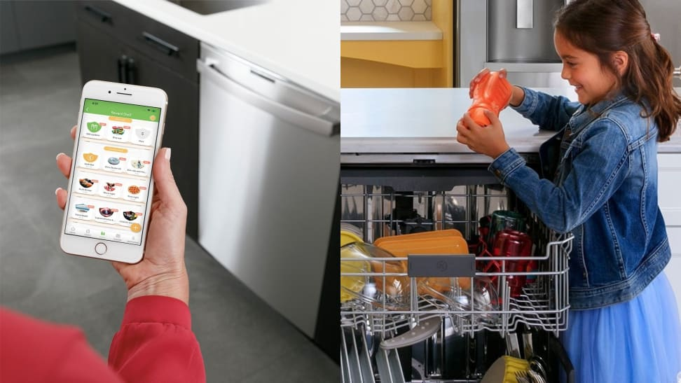 S'moresUp app and girl unloading dishwasher