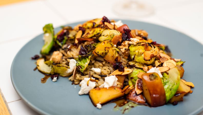 Home Chef Meal Kit - Wild Rice and Brussel Sprouts
