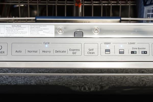 Samsung DW80H9970US control panel