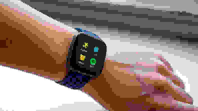 Fitbit Versa 2 menu screen