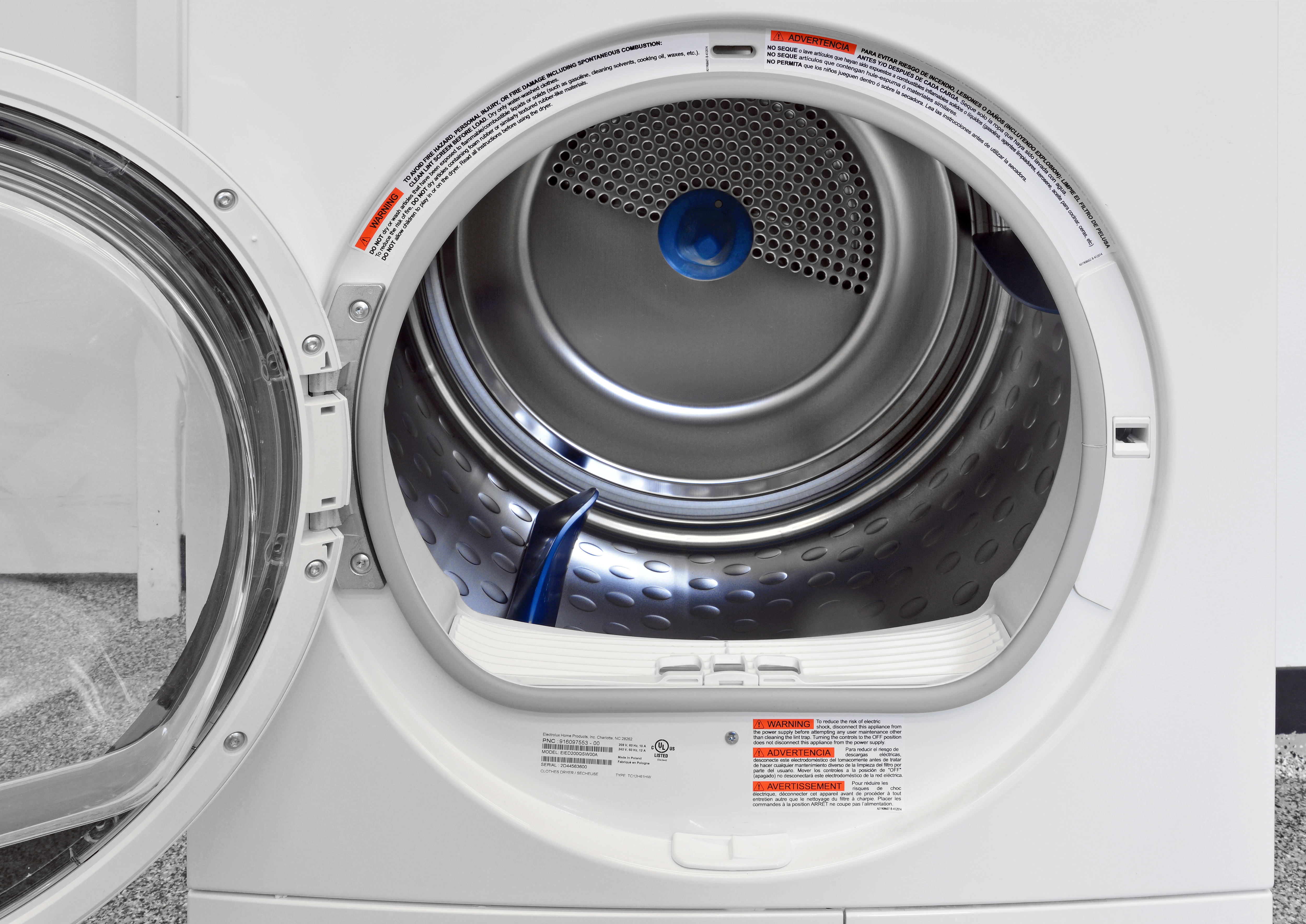 Electrolux Eied200qsw Ventless Condenser Dryer Review Frigidaire Washer And Knobs Front Load Electric The Eied200qsws 4 Cu Ft Stainless Steel Drum Is Large For
