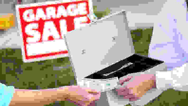 recycle-TV-garage-sale