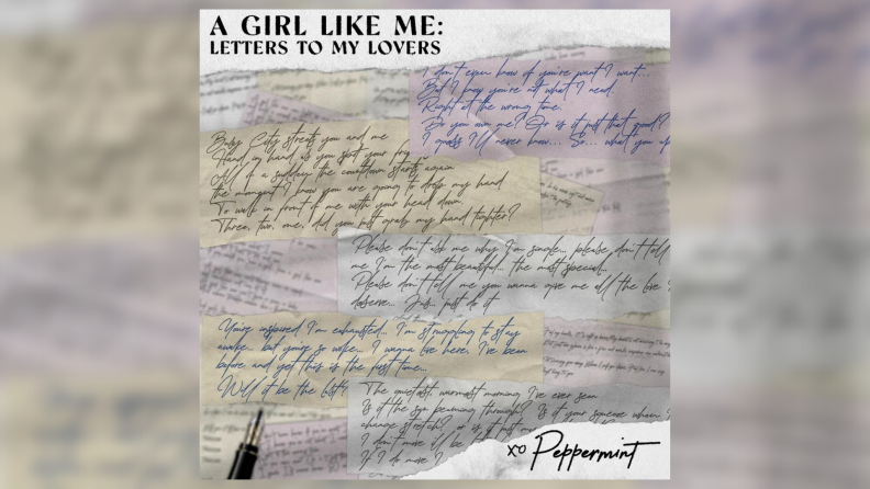 The cover art for Peppermint's A Girl Like Me album.