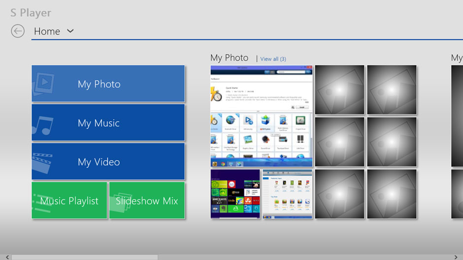 Samsung's proprietary media player isn't any better than what's included in Windows 8.