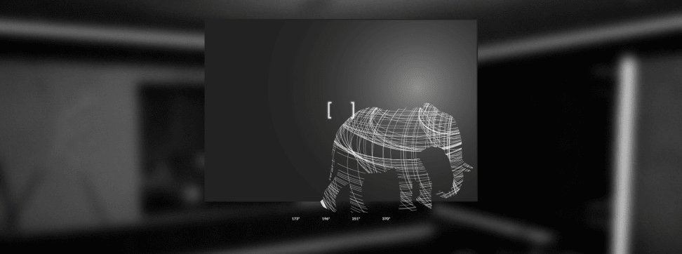 An illustration of the Titan Zeus TV compared to an elephant.