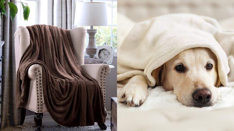 Bedsure Fleece Twin Throw Blanket