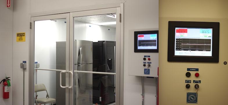Our refrigerator testing lab.