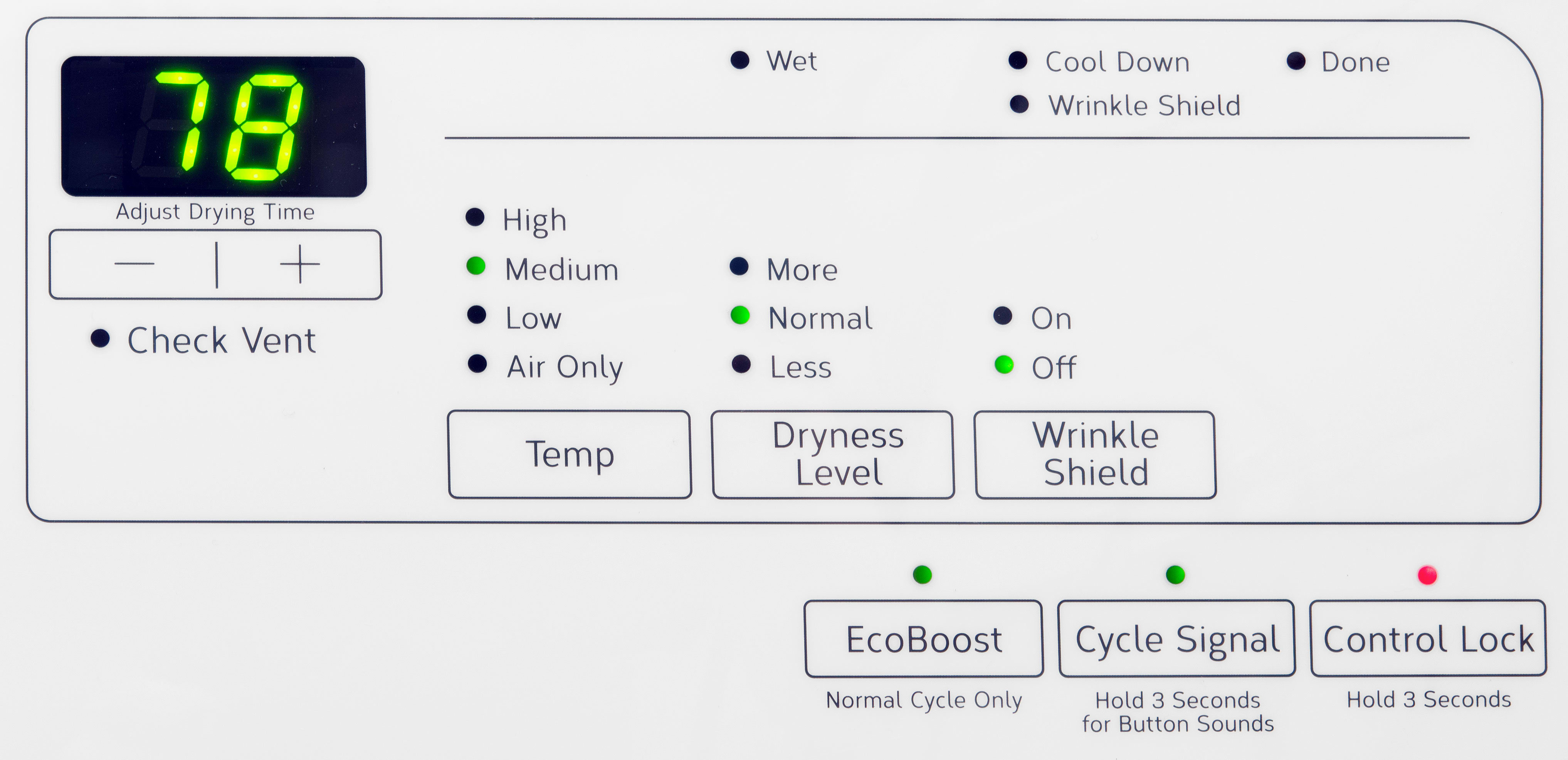 A limited number of features and customizable options keeps doing laundry pretty simple—which could be good or bad, depending on how you like to do things.