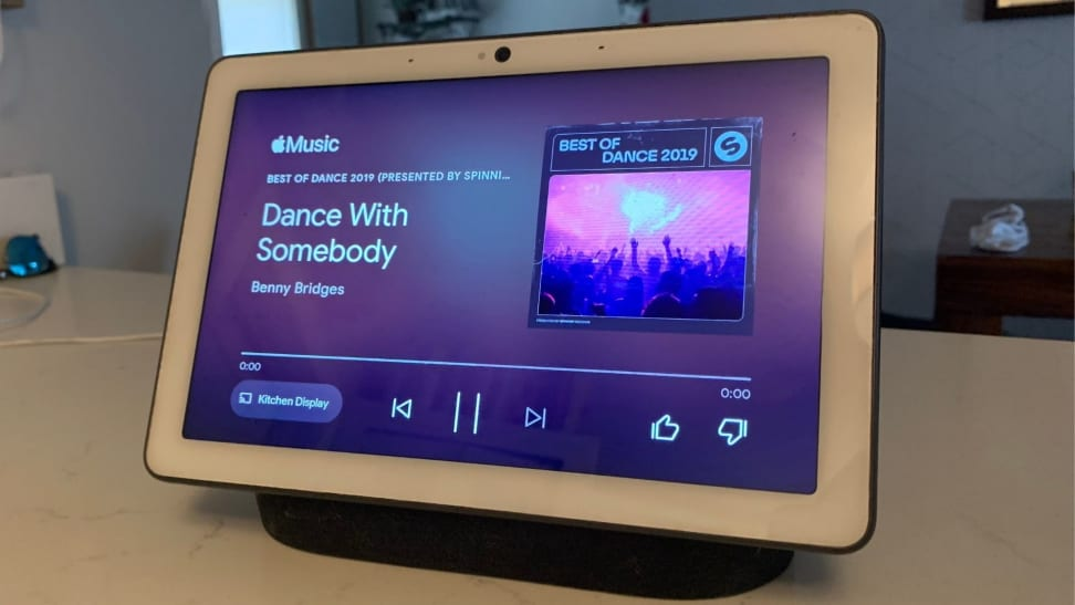 Apple Music playing on Google's Nest Hub Max