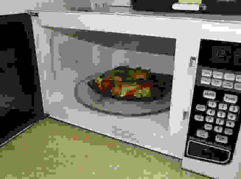 TV dinner in microwave