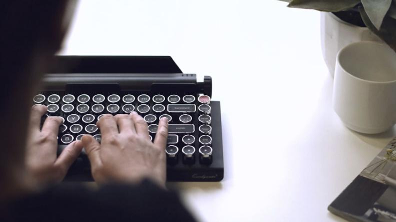 Typewriter-style keyboard