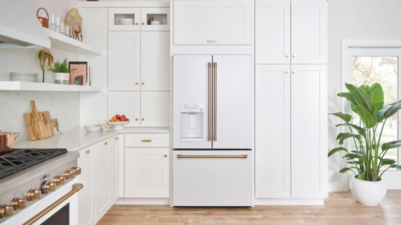 Matte-white-French-door-refrigerator