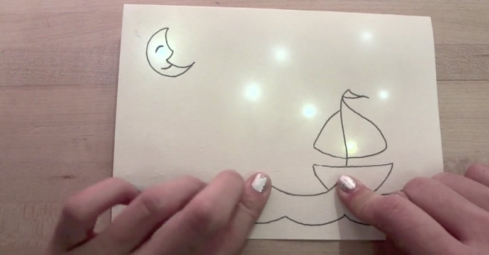 Thanks to this conductive pen, you can bring a child's drawing to life.