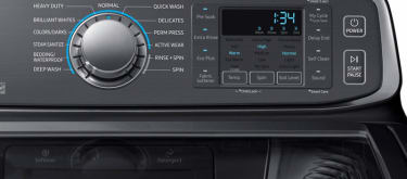 Samsung washer toploader wa52m7750av control panel black