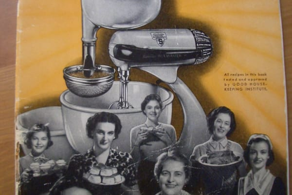 Instruction manual for a vintage Sunbeam Mixmaster: