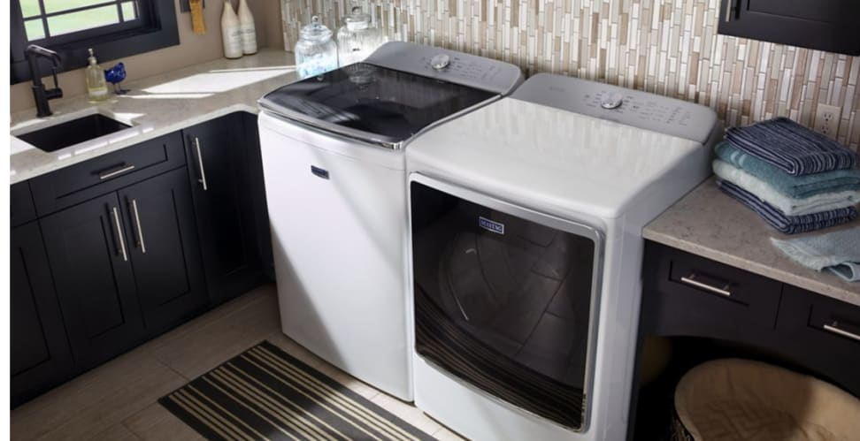 The Maytag MVWB955FC offers the largest capacity on the market.