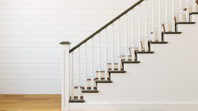 bright white staircase