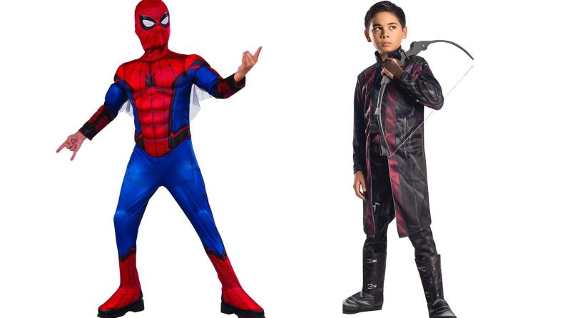 Spiderman and Hawkeye