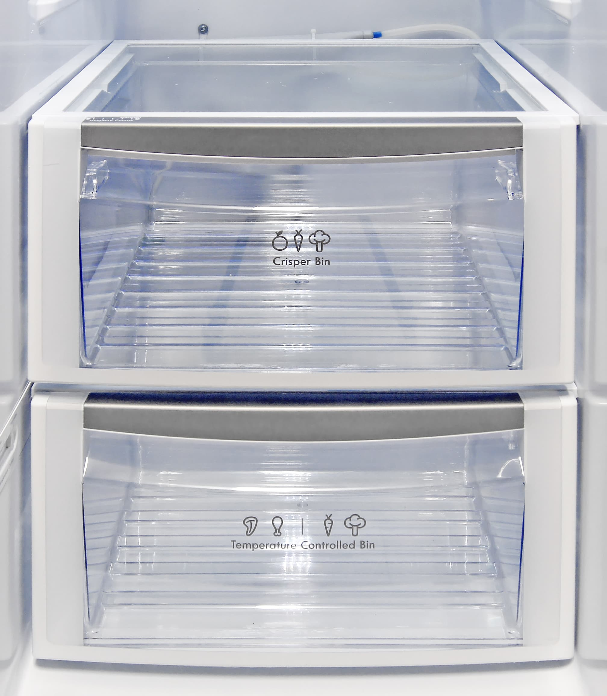 The Kenmore Elite 51162 only has one actual crisper; the lowest drawer has an adjustable temperature control instead.