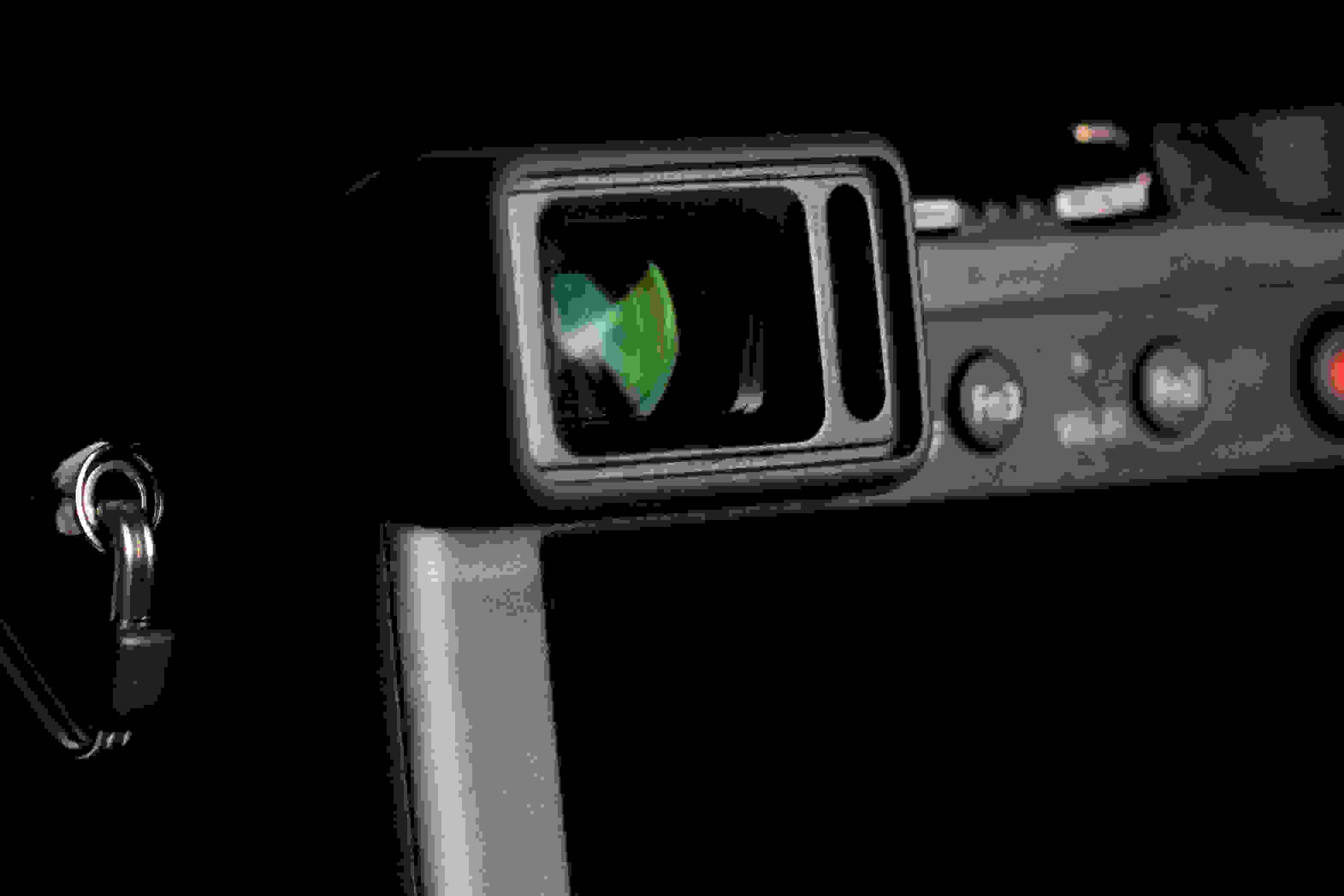 A photograph of the Panasonic Lumix LX100's electronic viewfinder.
