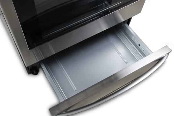 The LG LRG4115ST's warming drawer.