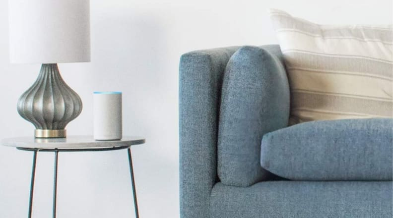 Amazon Echo by couch