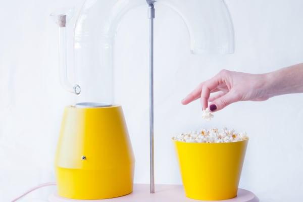 Et, voila! Delicious, air popped popcorn!