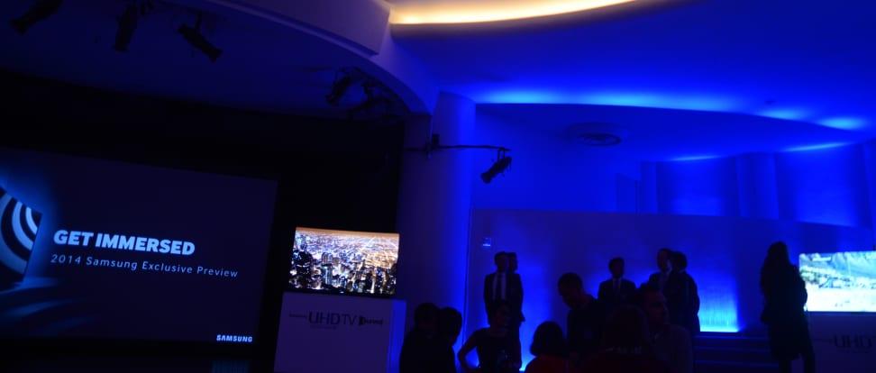 Samsung showcases 2014 TV lineup at NYC's Guggenheim museum.