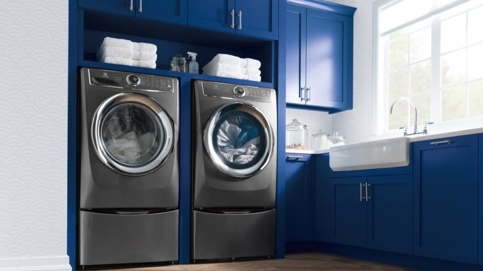 Electrolux dryer and washer.