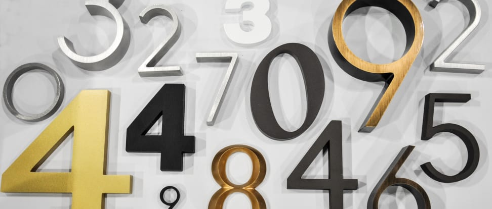 Architectural address numbers