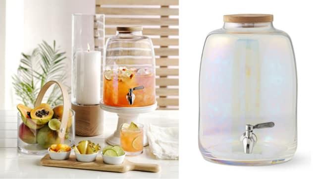 Best kitchen gifts of 2018: Iridescent Glass Beverage Dispenser