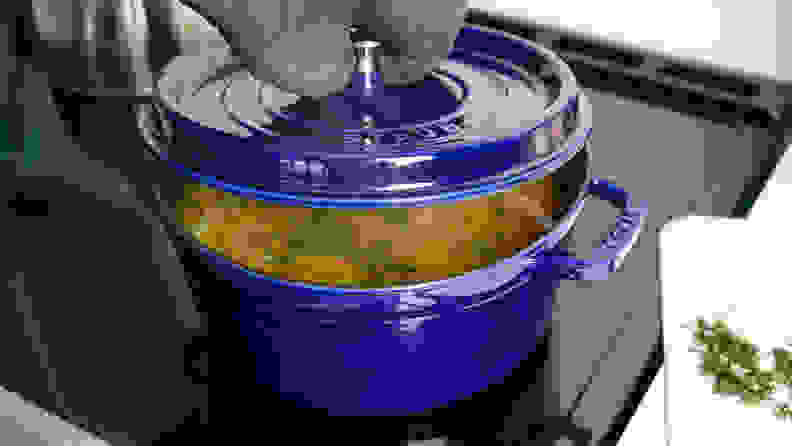A photo of the Staub Round Cocotte.