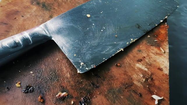 Dirty Wooden Cutting Board