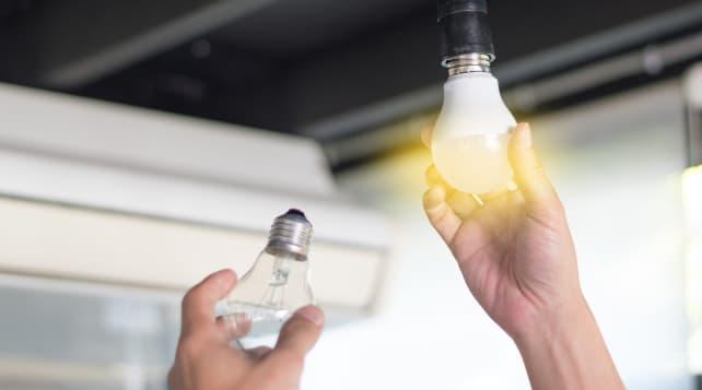 Install light bulb