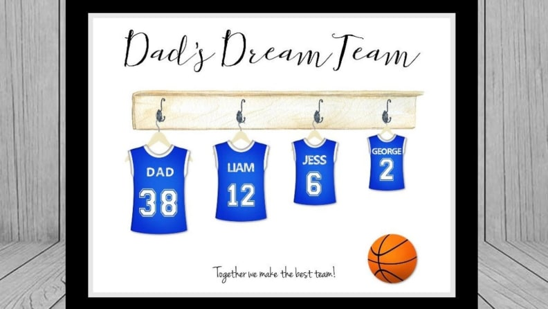 Dad's Dream Team Print