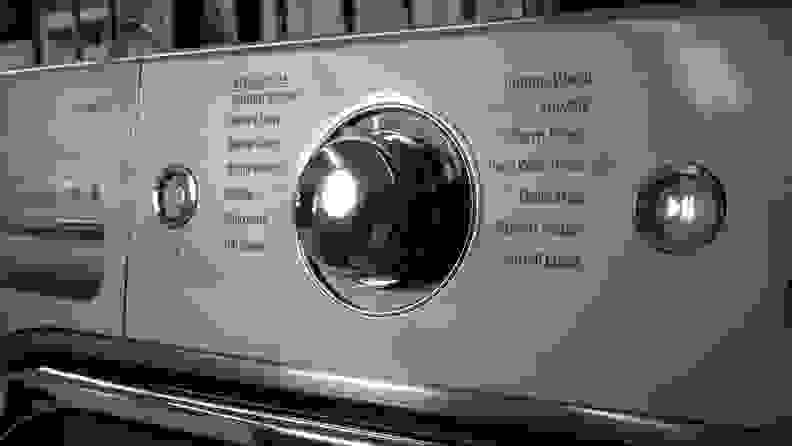 LG WM8100HVA Front-load Washing Machine Review — dial