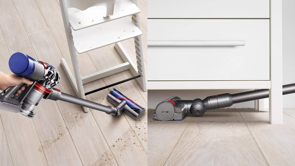 This lightweight vacuum makes cleaning a breeze.