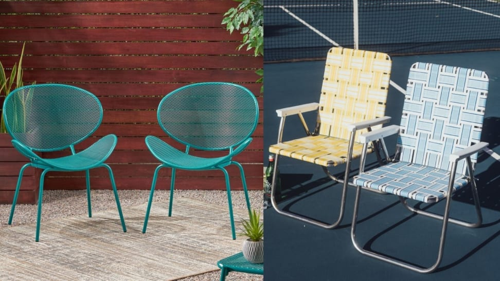 11 Retro Metal Lawn Chairs That Are, Vintage Metal Outdoor Chairs