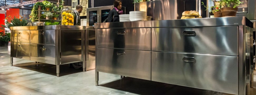 Stainless kitchens were popular at EuroCucina, but that doesn't mean they're the best fit for your home.