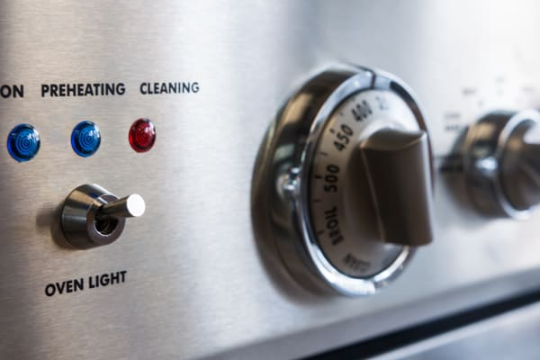 Oven light switch and indicator lights