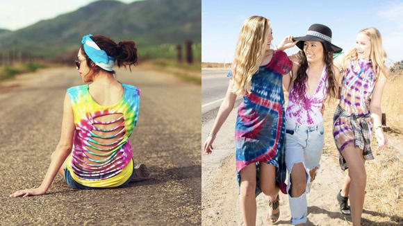 You can make that tie-dye matching set at home.