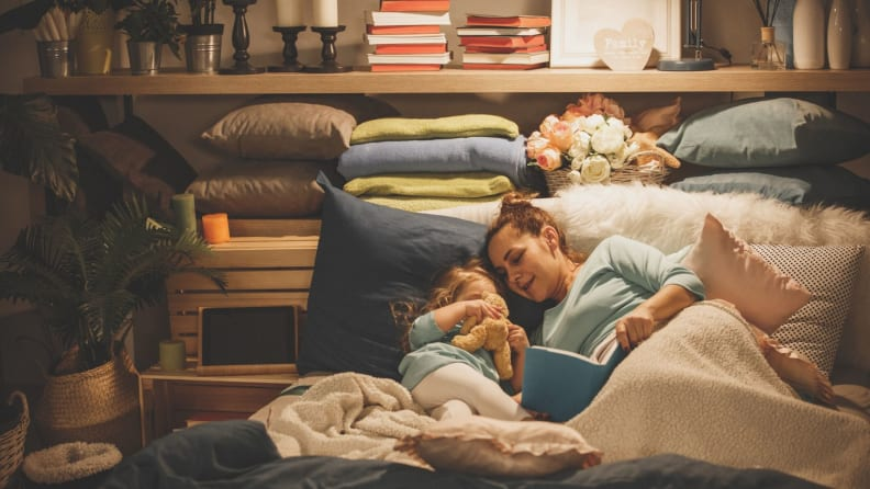 Reading at night together