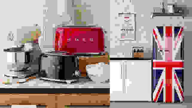 Smeg appliances and union jack fridge