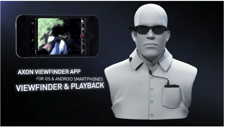 Taser's Axon Flex camera is designed for police officers and mounts to a pair of sunglasses.