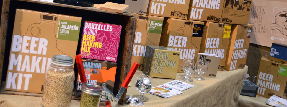 An array of small batch home brew kits.