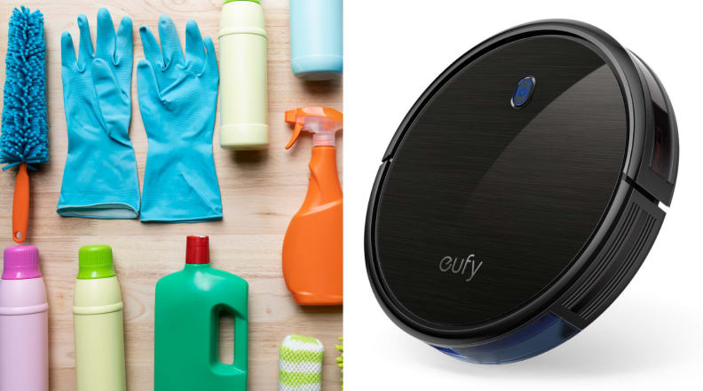 Cleaning supplies and robot vacuum