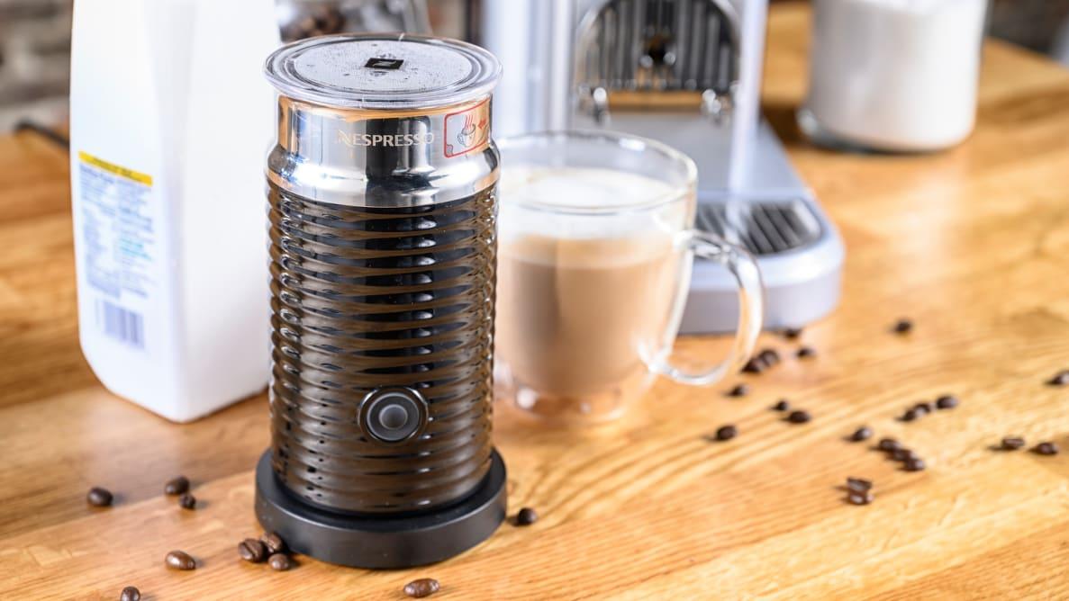 Nespresso Aeroccino 3 is the best milk frother we reviewed.