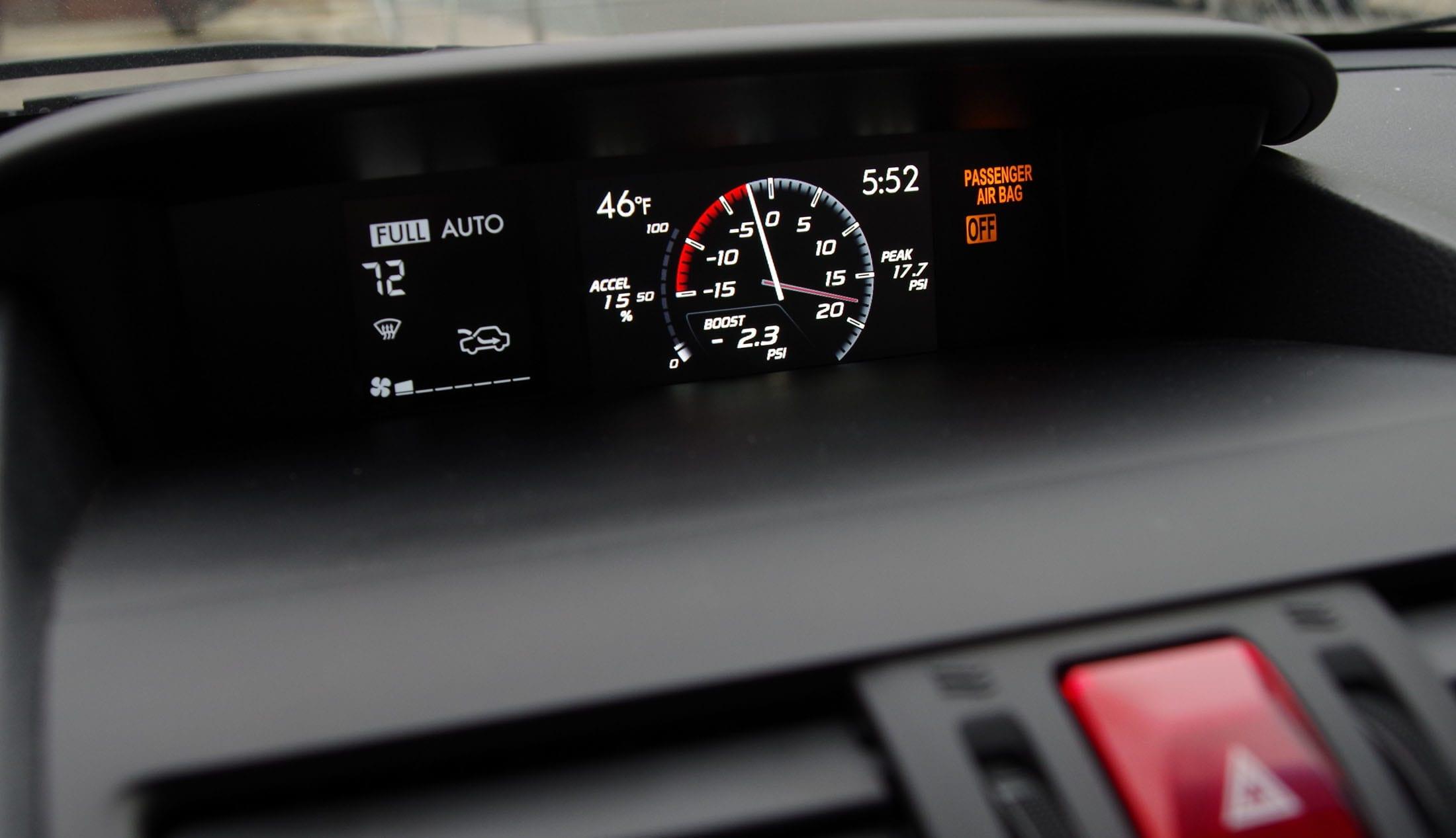 2015 Subaru WRX STI boost gauge